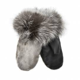 Iluliaq Mittens, Ringedseal Natural w. Leather